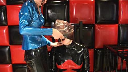 Plastic enclosure bondage bags husband has